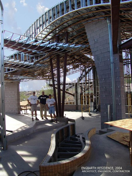 A somewhat complicated steel framing system, Architect  really challenged the Engineer and the Builder! Photo 10 of Scottsdale Desert Home modern home