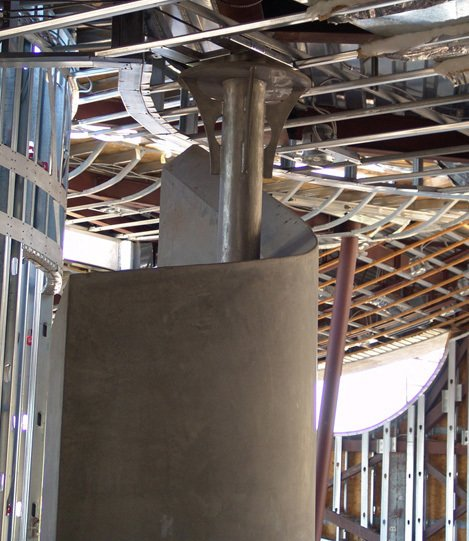 Stainless steel column will be polished and textured, its functional too as it supports a large part of the upper floor. Photo 13 of Scottsdale Desert Home modern home