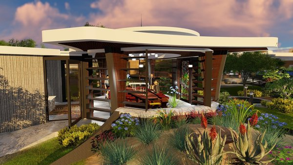 Photo 5 of Free-Standing Desert Dining Suite modern home