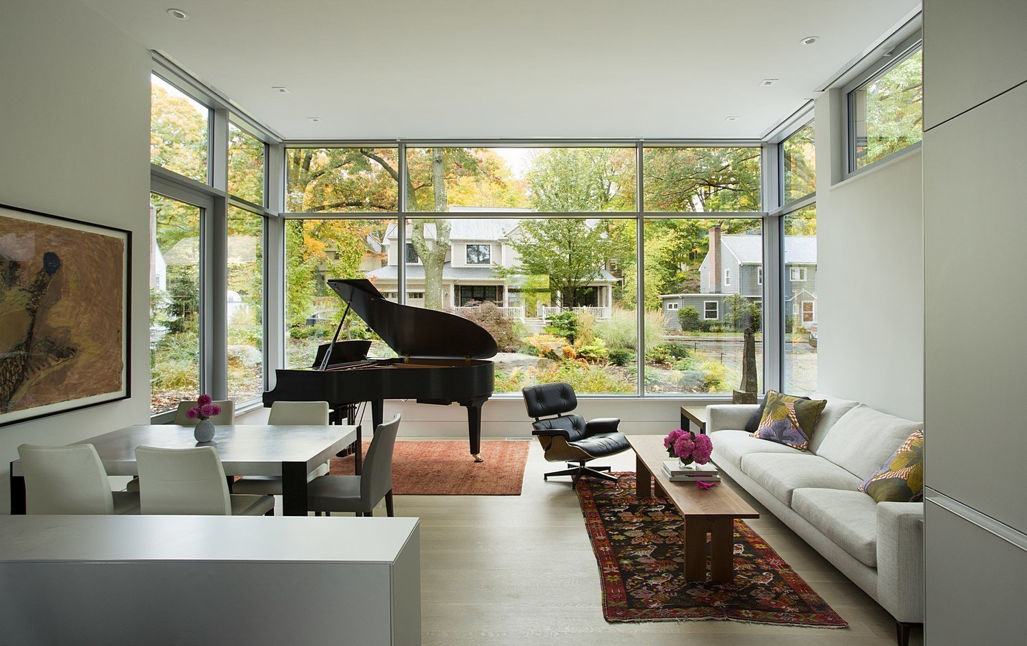 Tagged: Living Room, Sofa, Chair, and Recliner.  Brookline Residence by ZeroEnergy Design