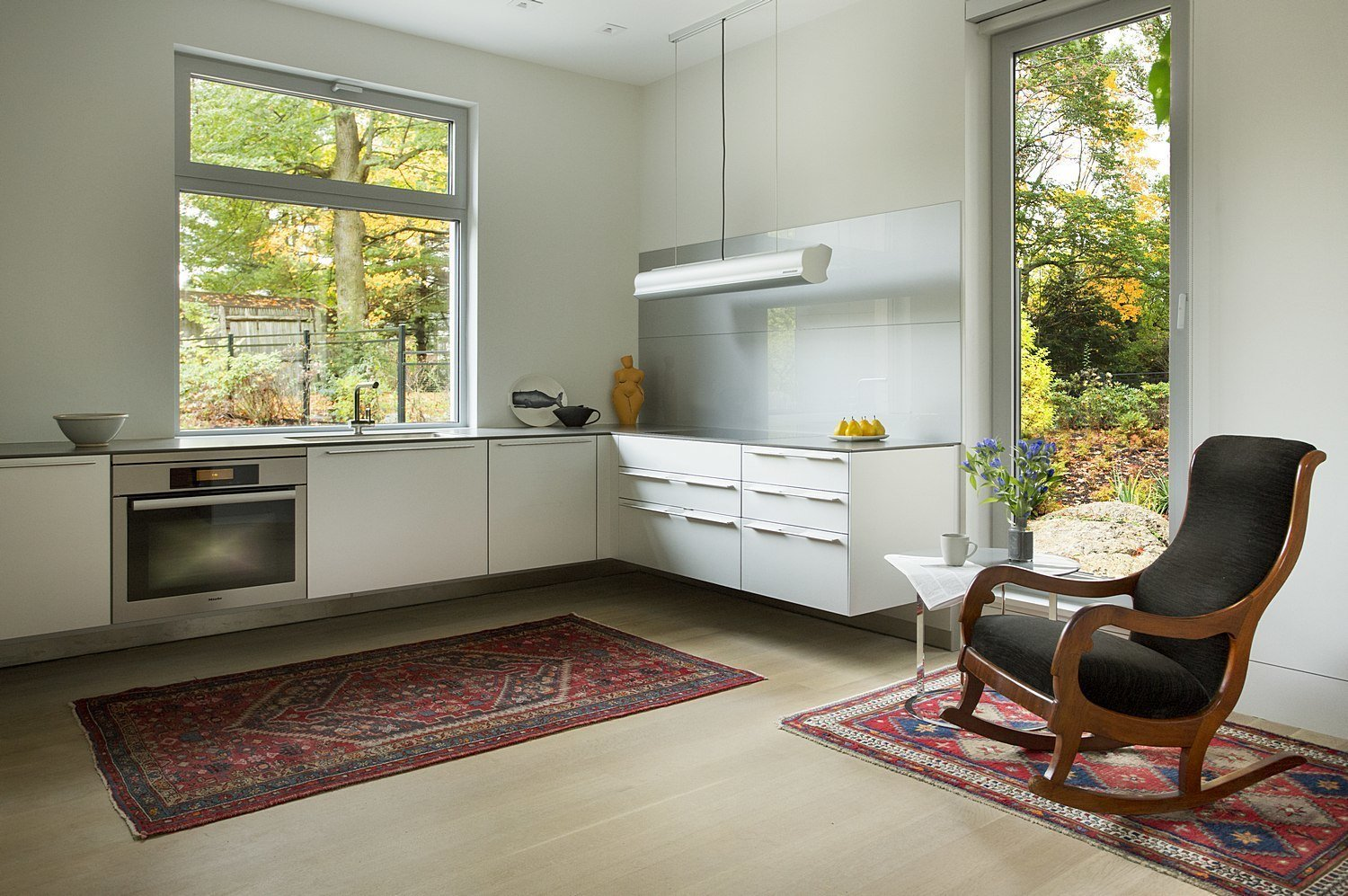 Tagged: Kitchen and White Cabinet.  Brookline Residence by ZeroEnergy Design