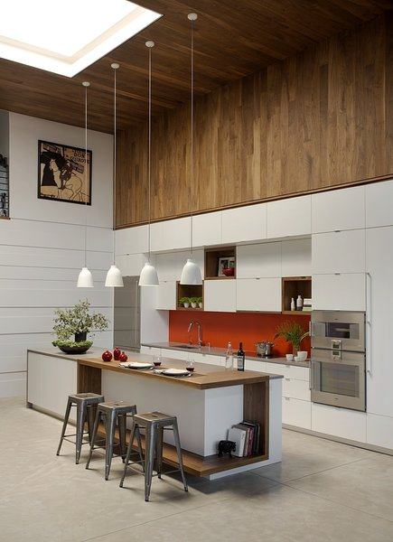 Kitchen with skylight Photo 2 of Boston Family Loft modern home