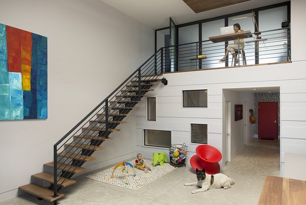 Stairs to loft level 2 Photo 4 of Boston Family Loft modern home