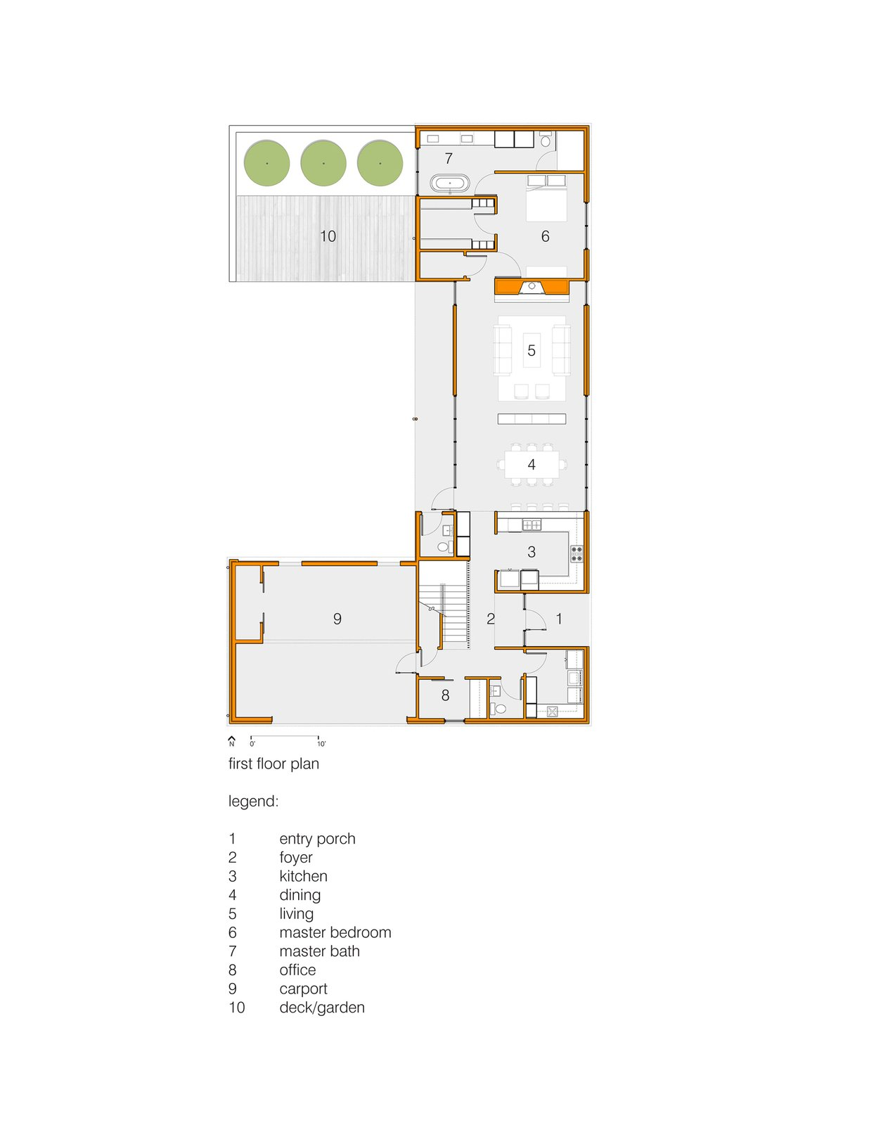 First Floor Plan  House for Five by tim michael