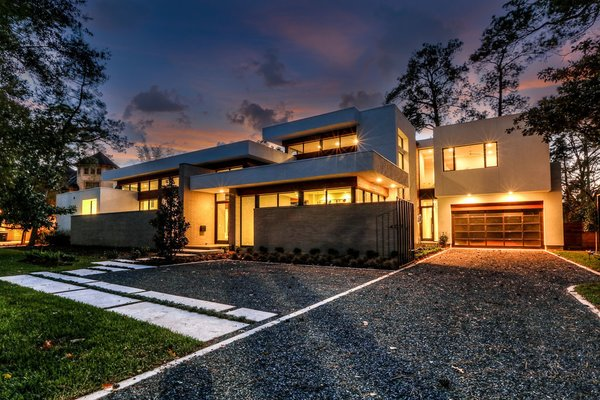 Exterior Photo  of Houston Modern Masterpiece modern home
