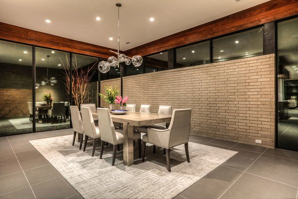 Formal dining room Photo 5 of Houston Modern Masterpiece modern home