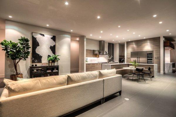 Den/Kitchen Photo 6 of Houston Modern Masterpiece modern home