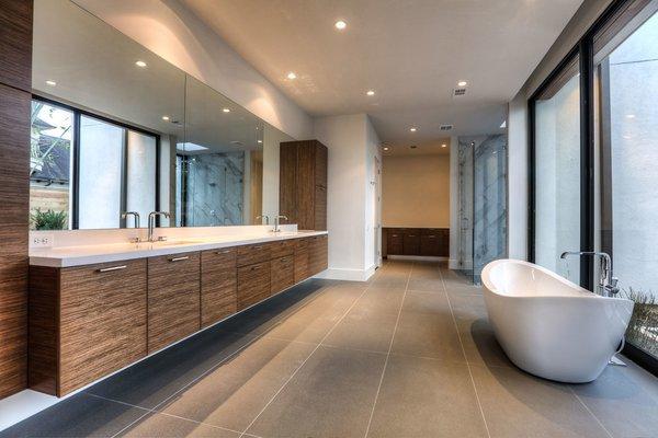 Master Bathroom Photo 9 of Houston Modern Masterpiece modern home