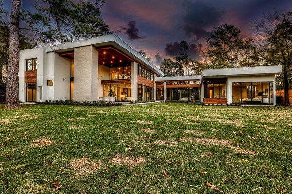 Backyard Photo 13 of Houston Modern Masterpiece modern home
