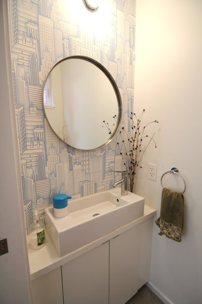 Powder Room Photo  of Logan Square Home modern home