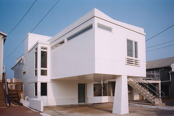 Land side view Photo  of Beach House modern home