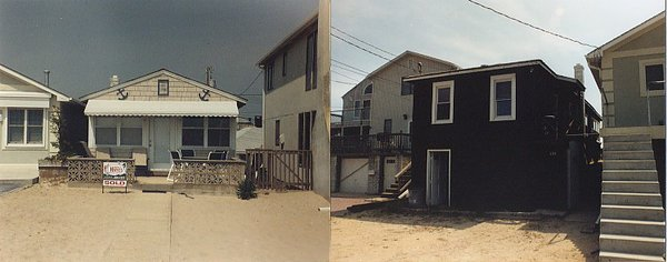 Land and beach side views before renovation and addition Photo 7 of Beach House modern home