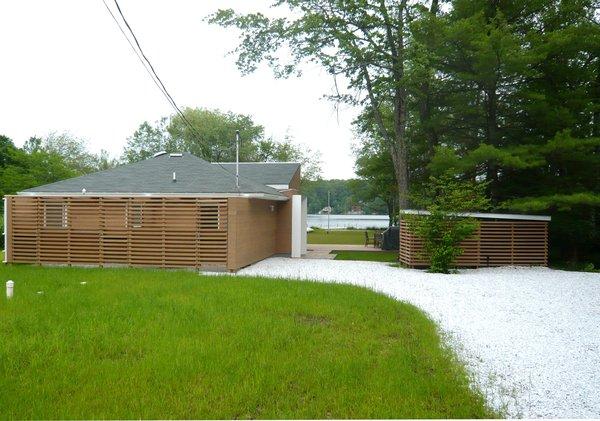 Entry side  Photo 4 of Jureller Lake House modern home
