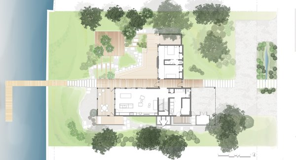Site Plan.  Photo  of Home on the Intracoastal Waterway modern home