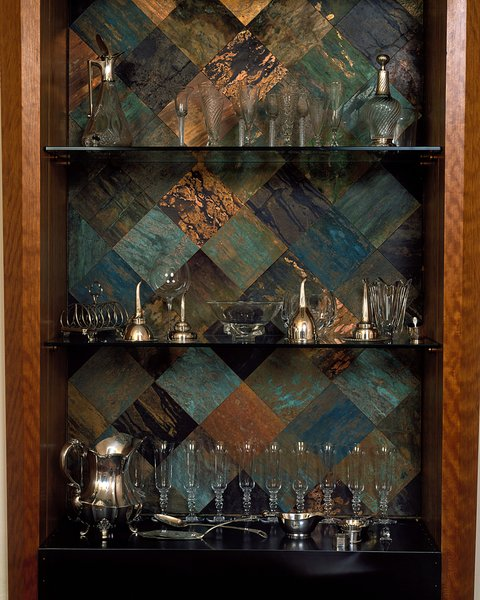Modern home with storage room, cabinet storage type, and shelves storage type. Photo 6 of Copper Steel & Cherry