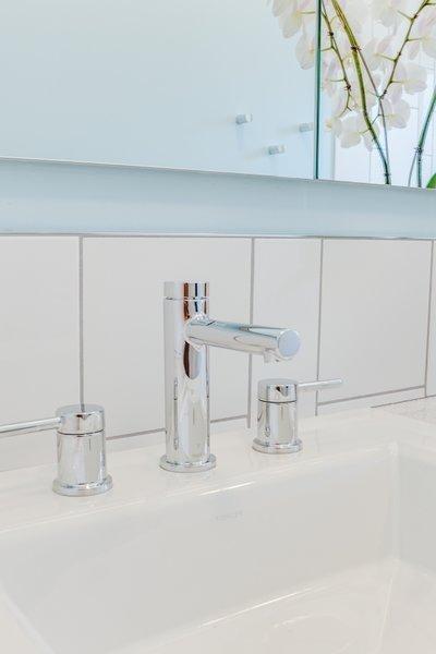Modern home with bath room, drop in sink, and subway tile wall. Terra Linda bathroom remodel Photo 7 of Terra Linda Bathroom Remodel
