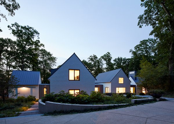 Front Approach Photo  of New Buffalo Residence modern home