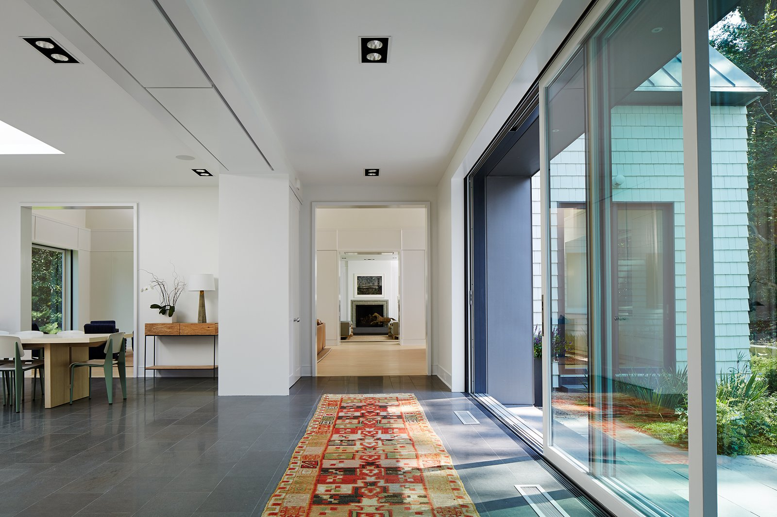 Central Entry Axis  New Buffalo Residence by Booth Hansen