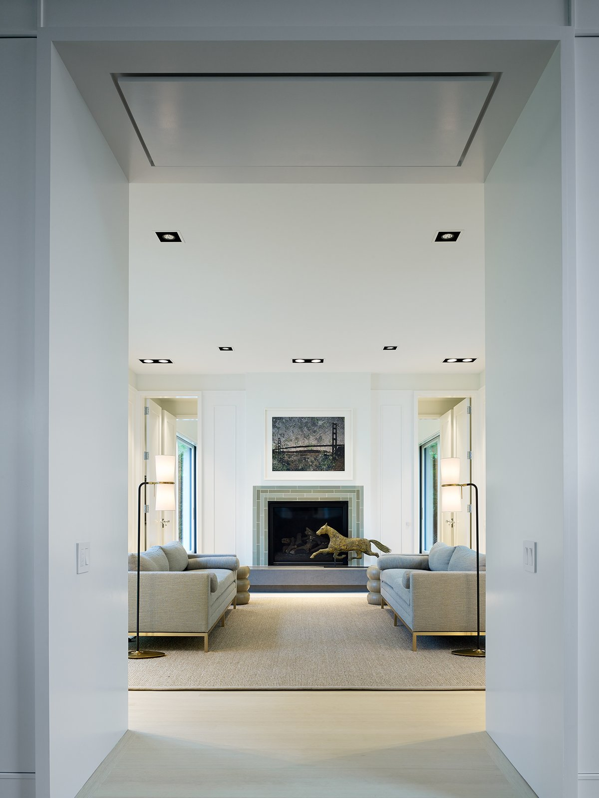 Family Room  New Buffalo Residence by Booth Hansen