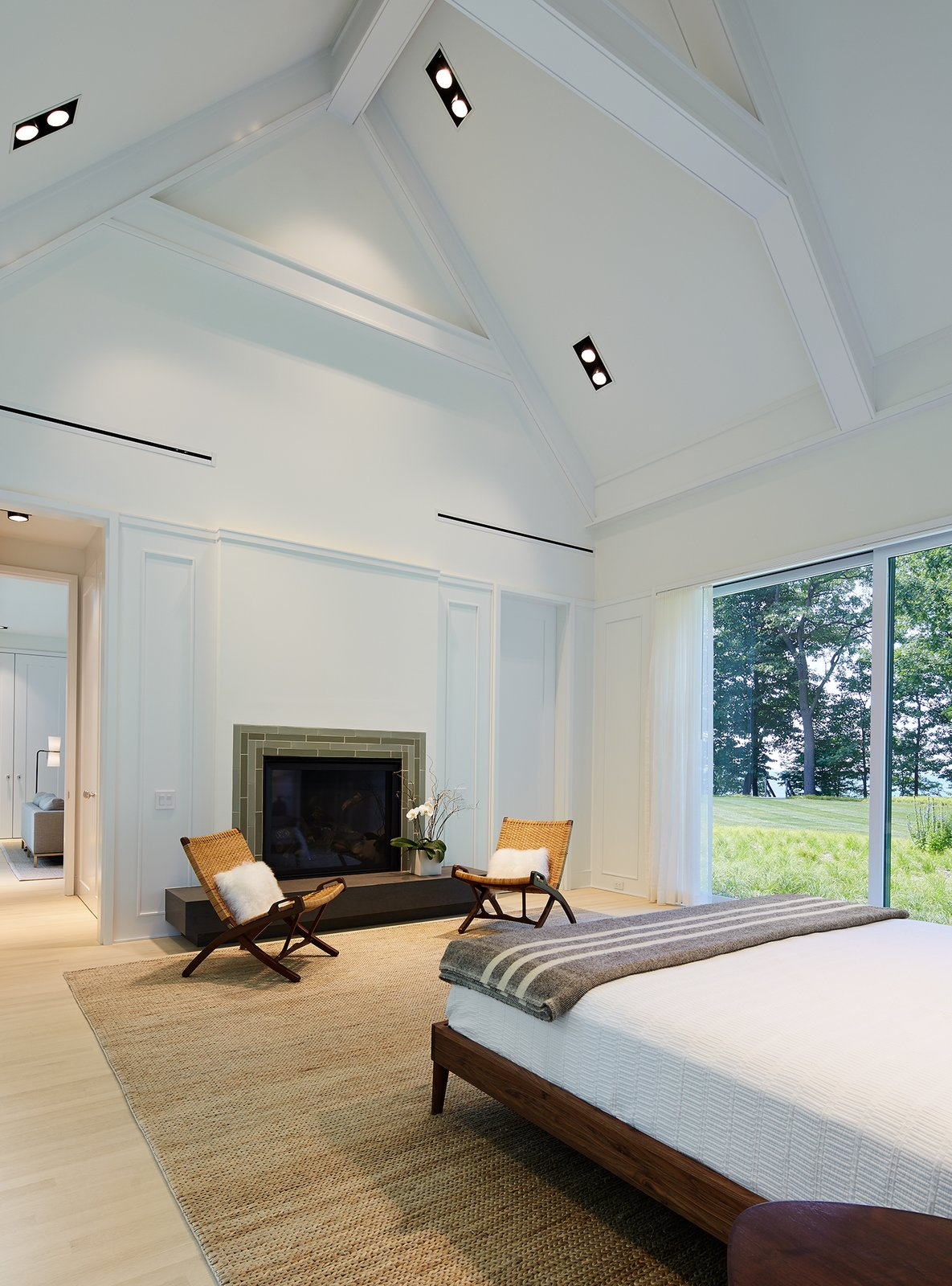 Master Bedroom  New Buffalo Residence by Booth Hansen