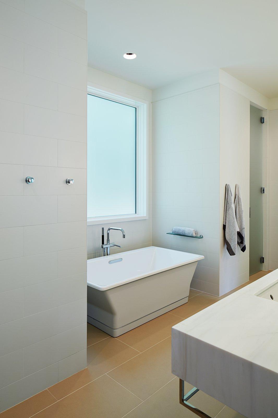 Master Bathroom  New Buffalo Residence by Booth Hansen