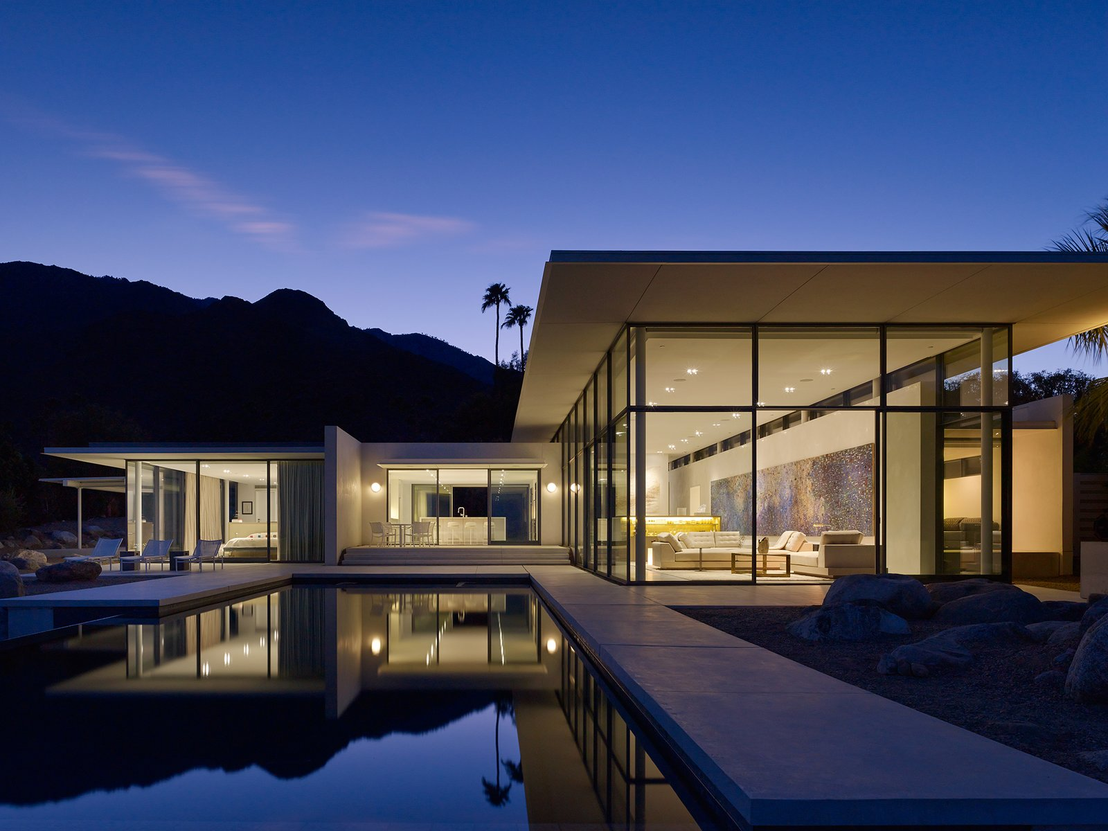 Front View  Palm Springs House by Booth Hansen