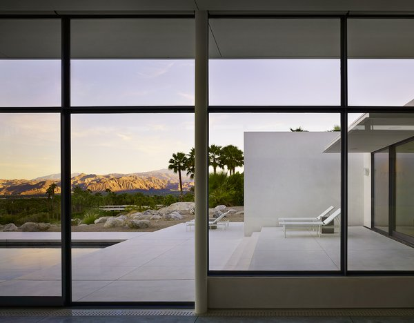 View From Living Room onto Front Terrace Photo 5 of Palm Springs House modern home