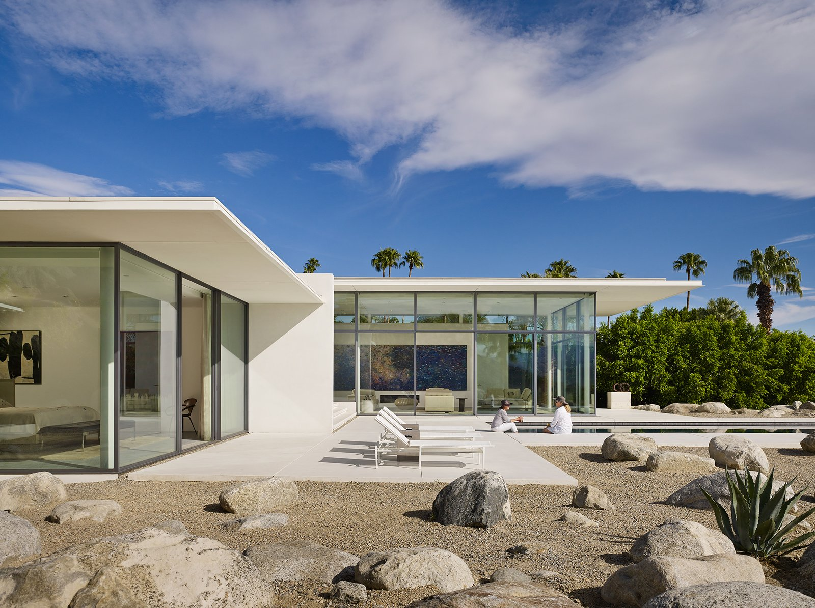 Front Terrace  Palm Springs House by Booth Hansen