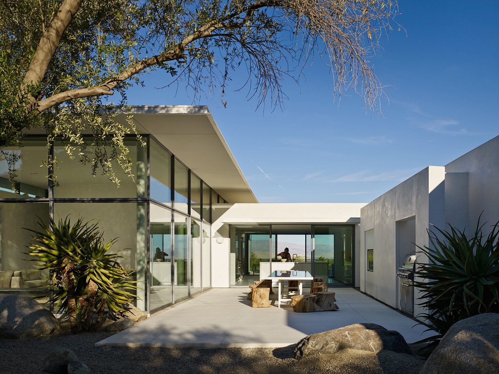 Back Terrace  Palm Springs House by Booth Hansen