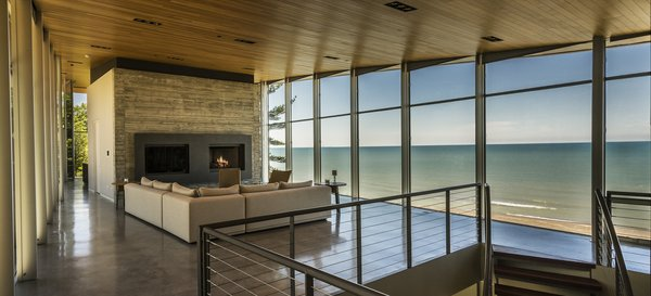 Living Room / View Towards Lake Michigan Photo 4 of Beverly Shores Residence modern home