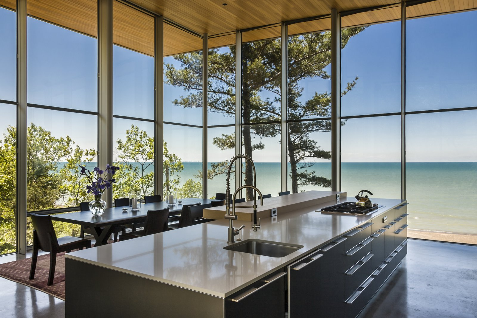 Kitchen  Beverly Shores Residence by Booth Hansen