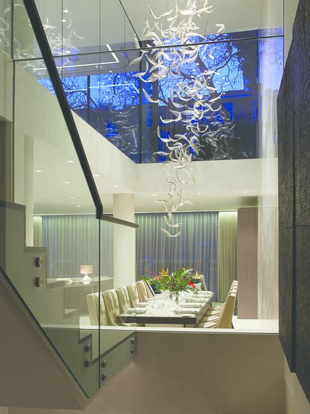 Ashberg House Chandelier view Photo  of Ashberg House modern home