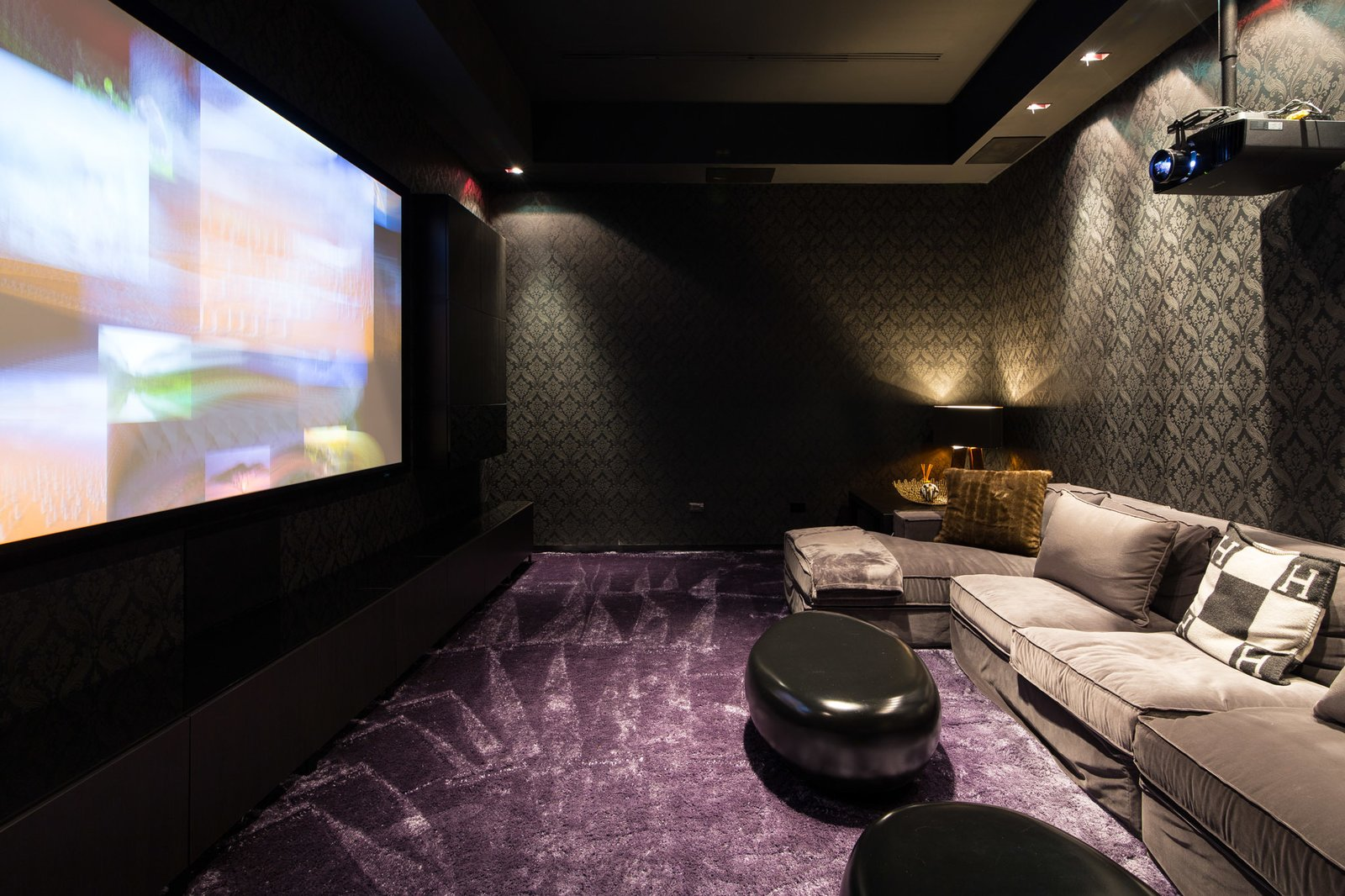 Media Room  Villa Venetian by Choeff Levy Fischman
