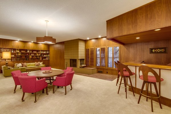 Family Room / Wet Bar Photo 3 of A Fabulous Mid-Century Modern Home modern home