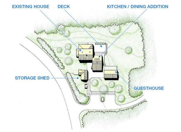 Site Plan Photo  of Taft / Todd House modern home