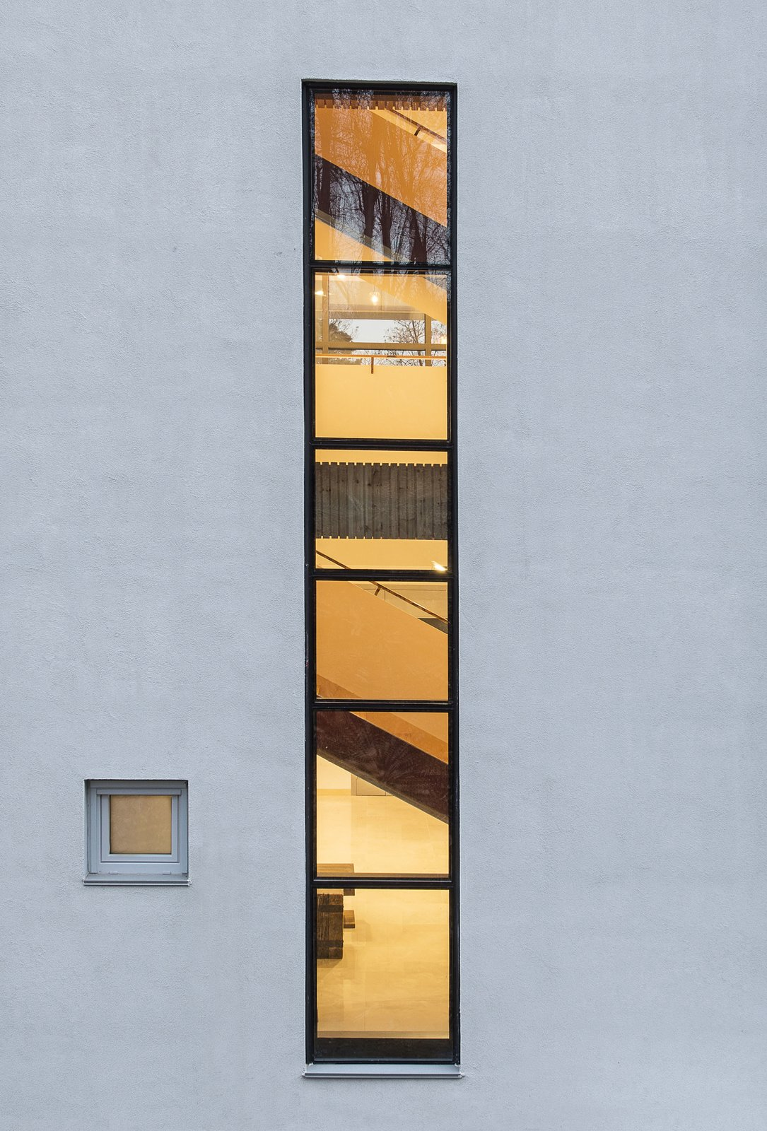 Stair Case Long Window Tagged: Outdoor.  A House by Chang Kyu Lee