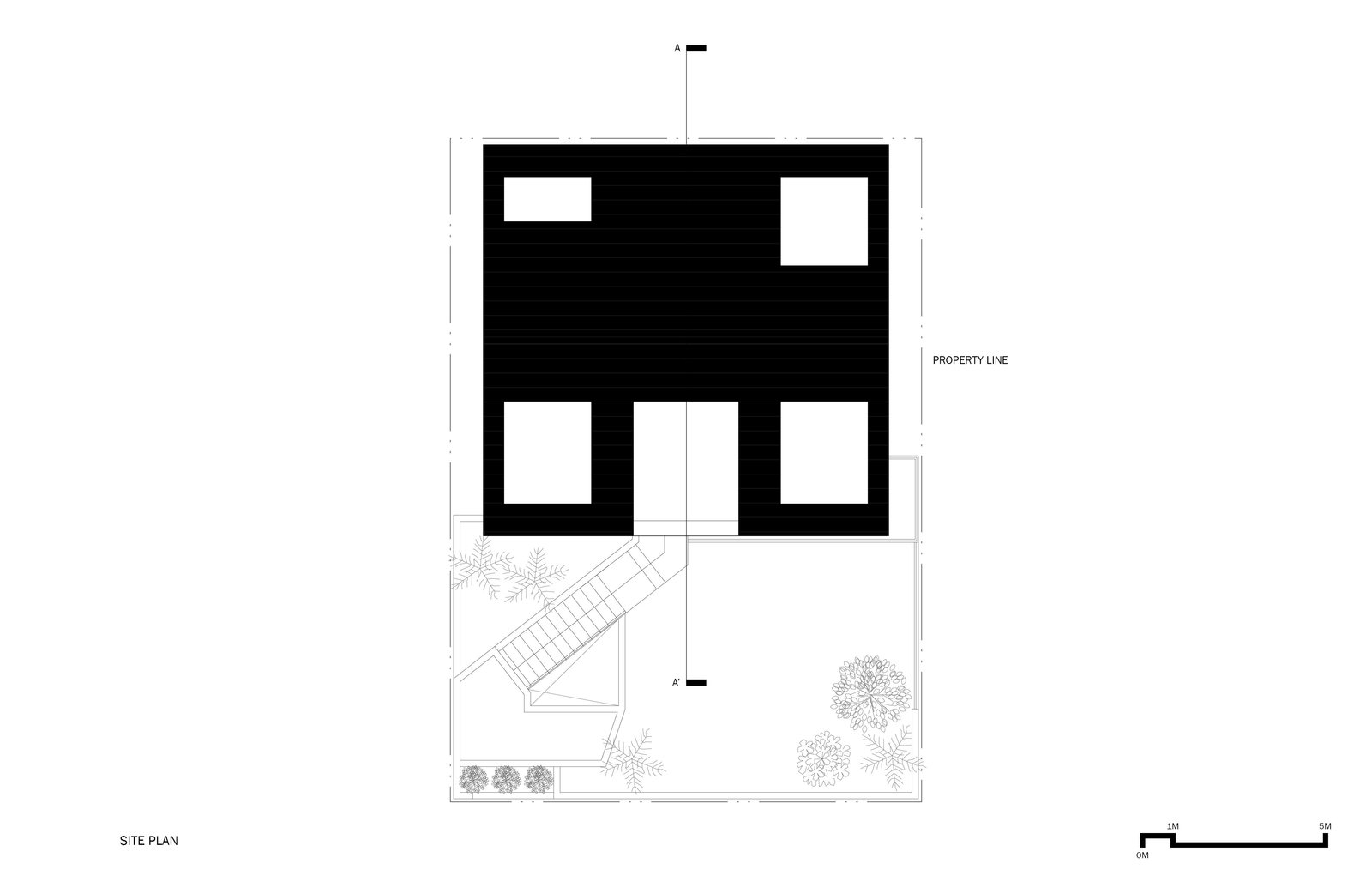 Site Plan Tagged: Outdoor.  A House by Chang Kyu Lee
