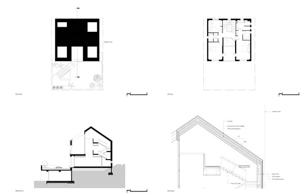 Modern home with outdoor. Drawing Set Photo 18 of A House