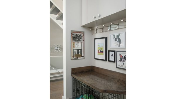 Second-floor landing, designed to be a space for two well-loved Boston terriers to get ready for their day. Photo 6 of Artistically Modern modern home