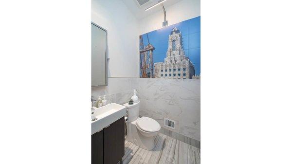 Guest bath. Photo 5 of Artistically Modern modern home