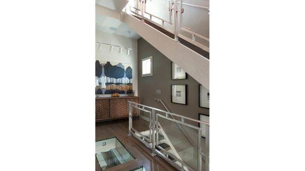 Interior stair tower. Photo 7 of Artistically Modern modern home