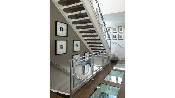 Interior stair tower. Photo 8 of Artistically Modern modern home