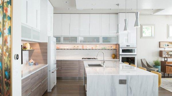 Open kitchen. Photo 15 of Artistically Modern modern home