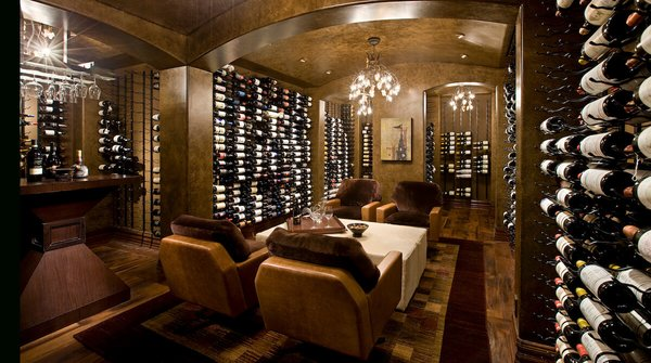Custom wine cellar. Photo 2 of Park City Ski Retreat modern home