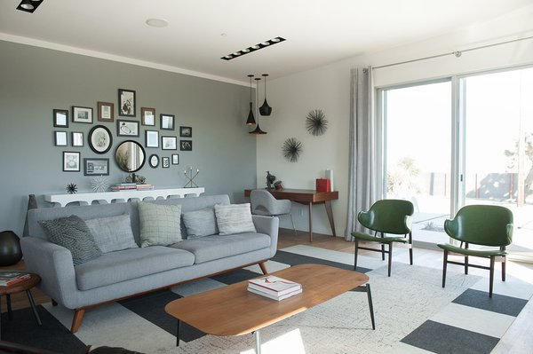 Modern home with living room. Photo 3 of A Serenity Escape in Joshua Tree