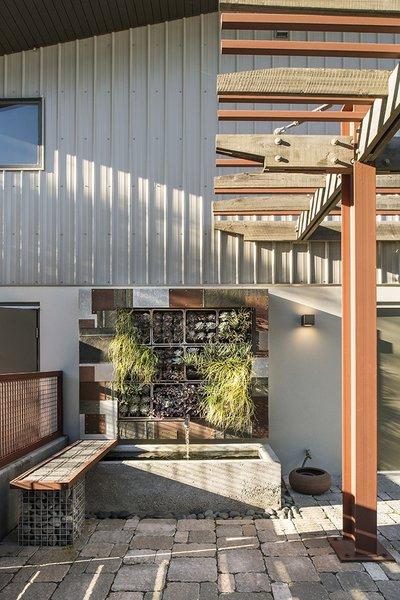 Exterior patio and vertical garden Photo 6 of 1600 Lakeside modern home
