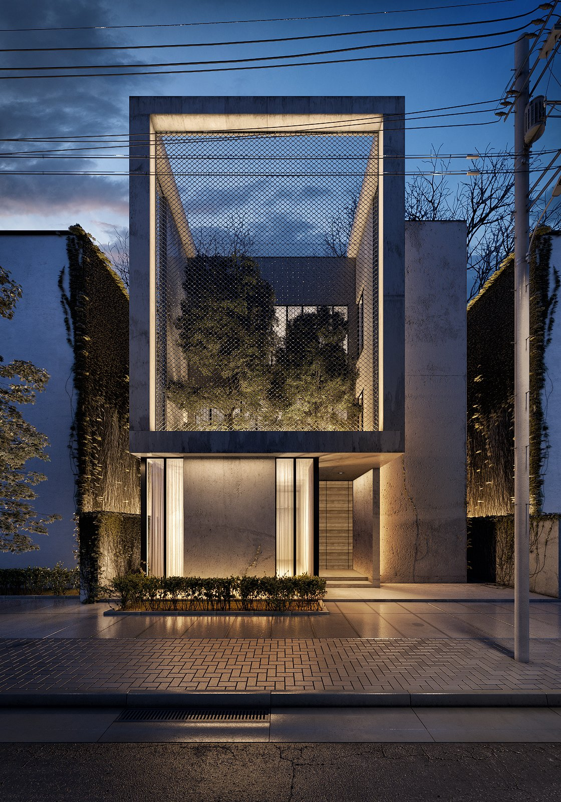 Front Yard View of Villa   The Al Ali Home by Lines Design Creation and Consultancy