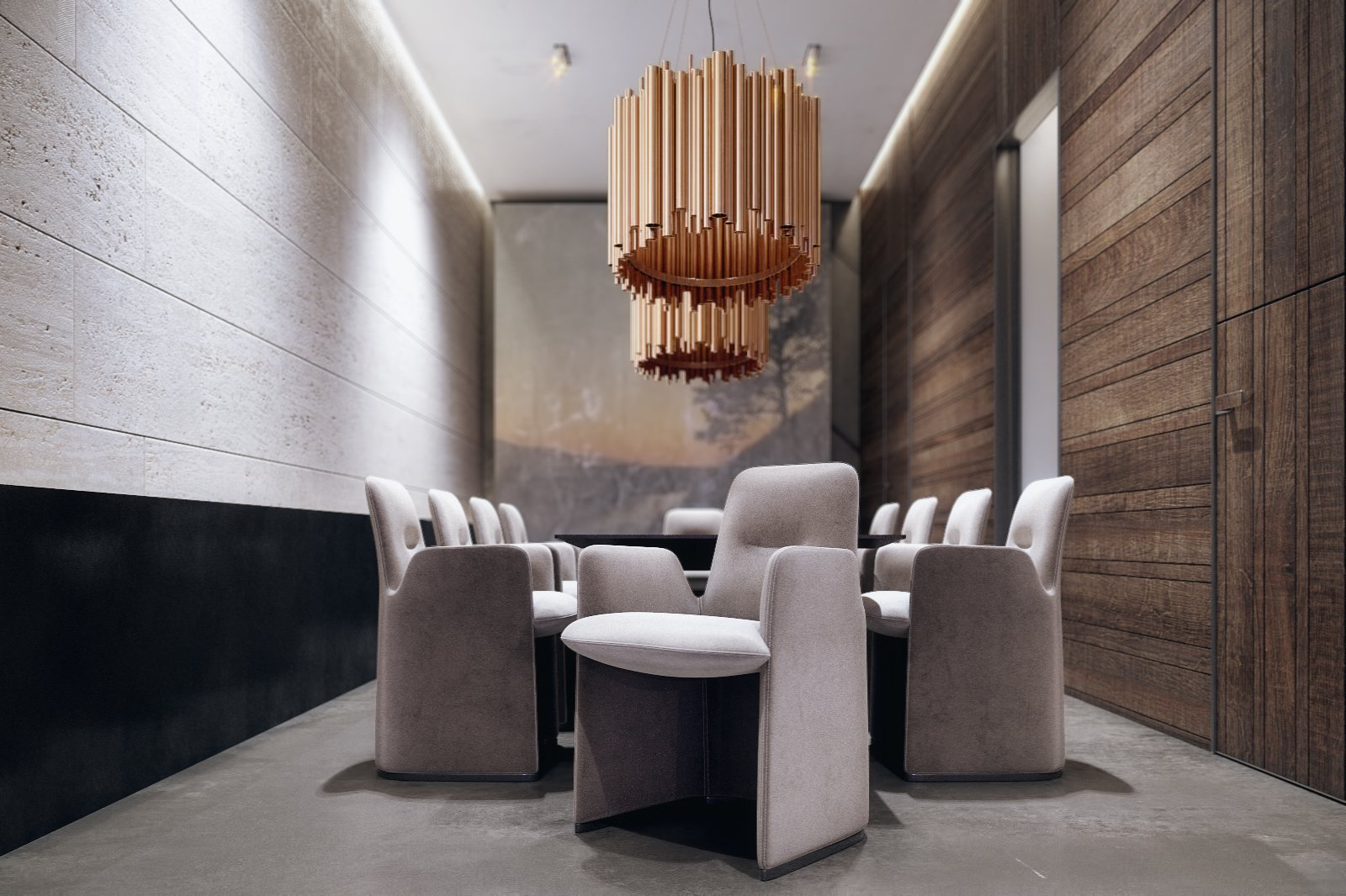 Dining Room Space  The Al Ali Home by Lines Design Creation and Consultancy