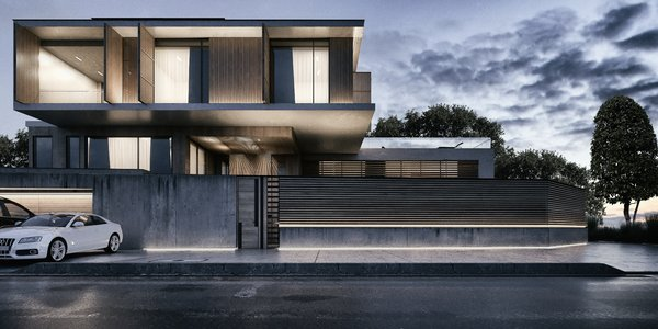 Front View of the Villa  Photo  of Monochrome Veil modern home