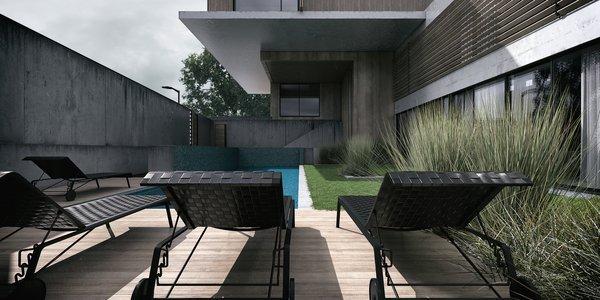 Pool Area  Photo 2 of Monochrome Veil modern home